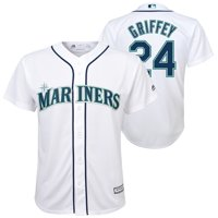 Ken Griffey Jr. Seattle Mariners Majestic Youth Home Official Cool Base Player Jersey - White