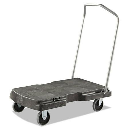 Olive Trolley - Rubbermaid Commercial Triple Trolley, 500-lb Cap, 20-1/2w x 32-1/2d x 7h, Black