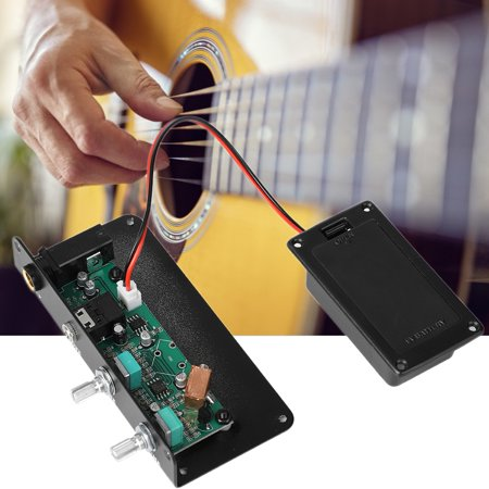 Instrument Preamp (Digital Equalizer,Yosoo 3.5mm Silent Electric Guitar Preamp EQ Equalizer Pickup Tuner Instrument Tool,Pickup)