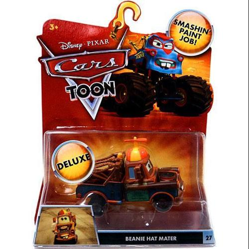Disney Cars Cars Toon Deluxe Oversized Beanie Hat Mater 1:55 Diecast Car