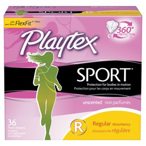 Playtex Sport Tampons Unscented Regular Absorbency - 36 Count