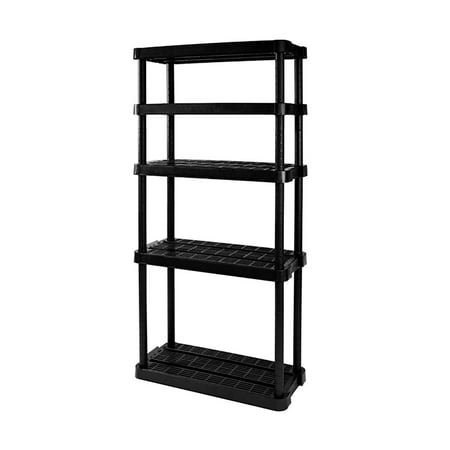 Gracious Living Medium Duty Adjustable Ventilated Storage Shelving Unit, 5 Shelf ()