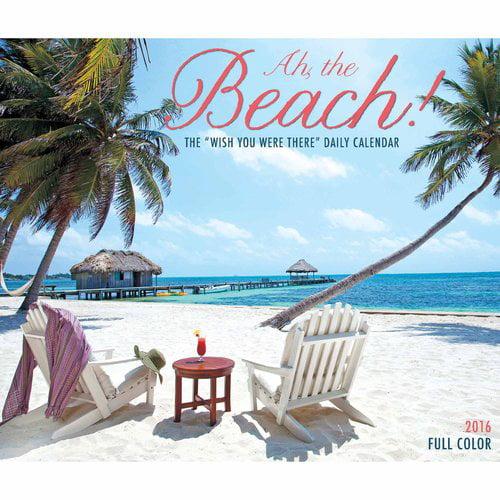 Ah The Beach Desk Calendar Walmart Com