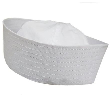 Adult White Cotton Sailor Gob Costume Hat - Kids Sailor Hats