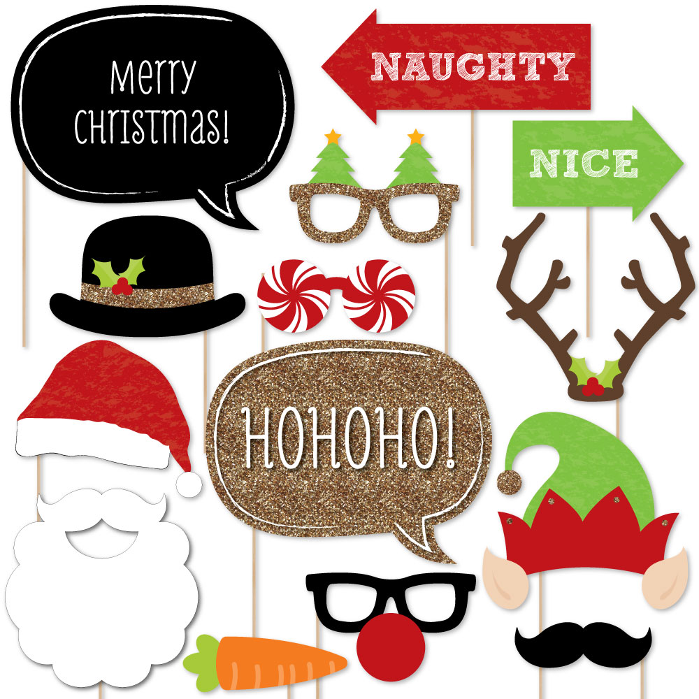 Talking Tables Christmas Entertainment Pet Themed Selfie Kit for Christmas Party