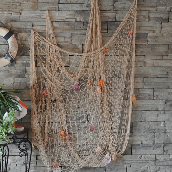 Nautical Fishing Net Decorative Seaside Home Wall Beach Party Sea Shell Decor by