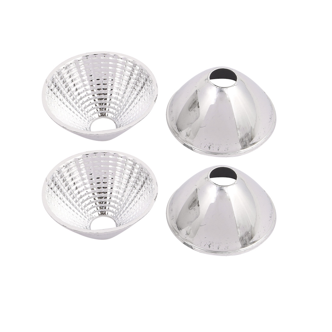 4Pcs D50mm H25mm Plastic  Light Lamp Reflector Cup for  COB Flashlight