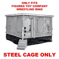 Steel Cage Playset for Figures Toy Company Wrestling Ring (RING NOT INCLUDED)