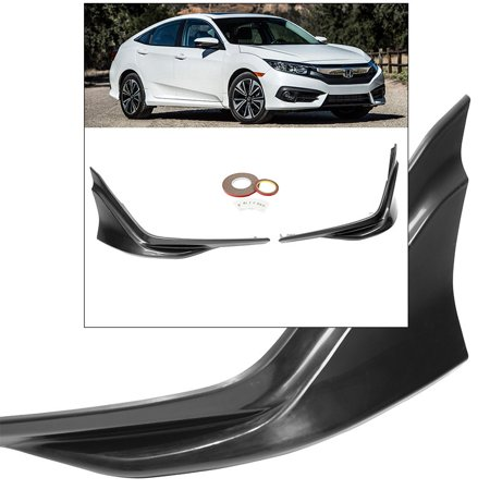 For Civic FC1 FC2 2D 4D 2016-2018 Front JDM Splitter Spoiler Front Lip Air Dam