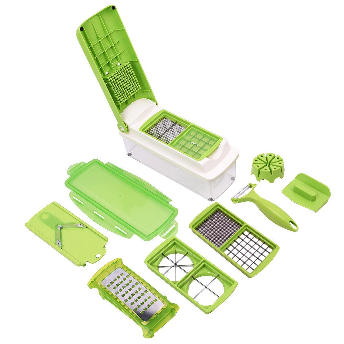 Costway 12 PC Super Slicer Plus Vegetable Fruit Peeler Dicer Cutter Chopper Nicer Grater by Costway