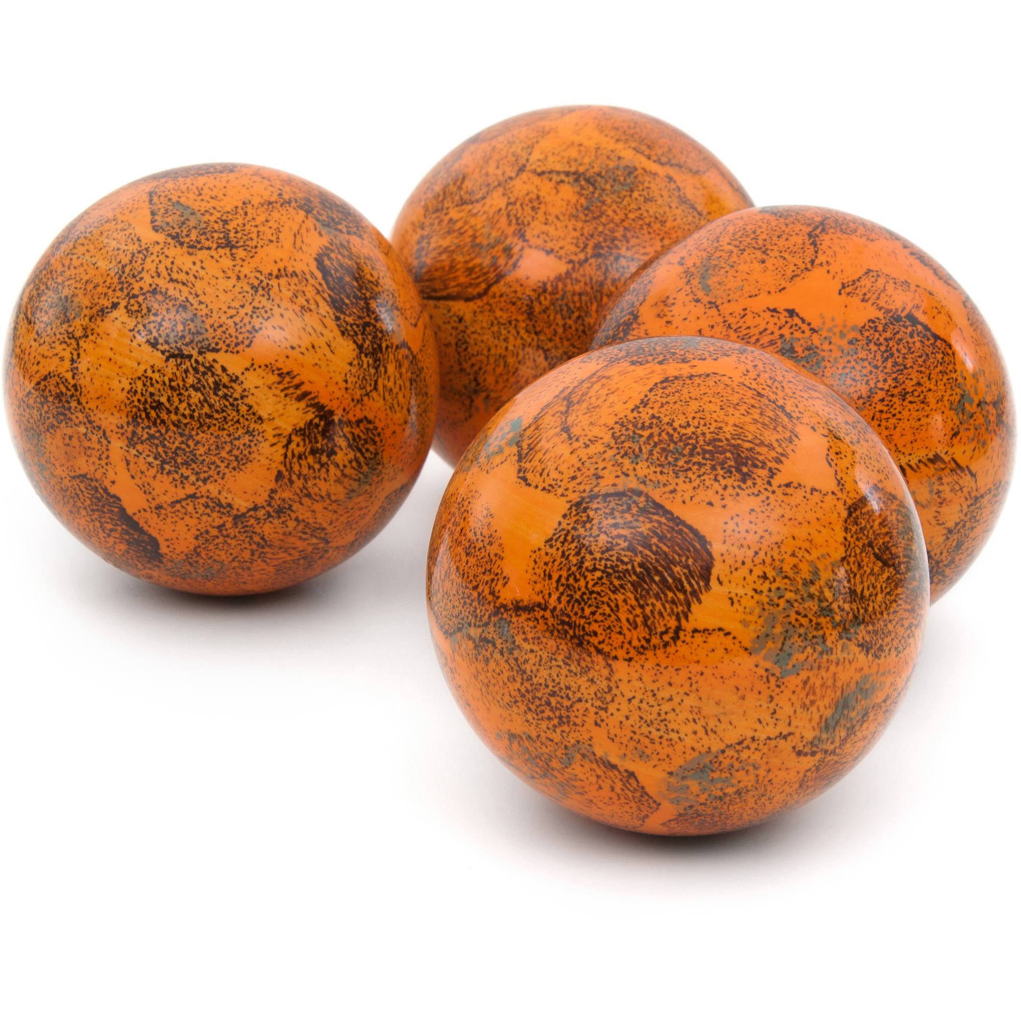 "4"" Sponged Light Orange Porcelain Ball Set"