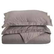 500 Thread Count 100% Cotton Solid 3-Piece Duvet Cover Set by Superior