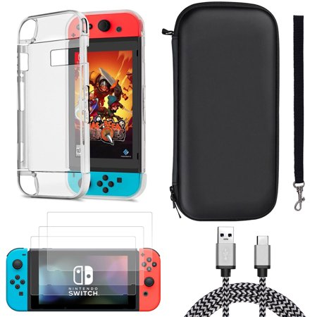 TSV Accessories Set Case Bag & Shell Cover & Charging Cable & Protector for Nintendo (Cabelas Seat Covers)