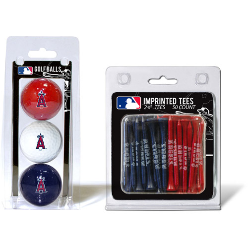 Team Golf MLB Los Angeles Angels 3 Golf Balls And 50 Golf Tees