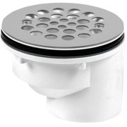 Oatey 103 Offset Shower Drain With Receptor Base, 2 in