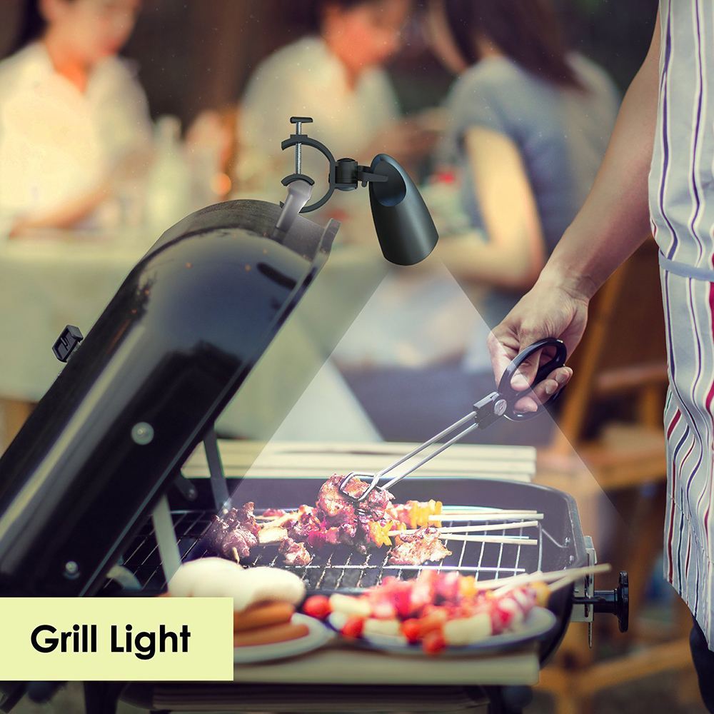 Barbeque Grill Light Handle Mount 360° Water /& Heat Resist 10 LED Bright BBQ