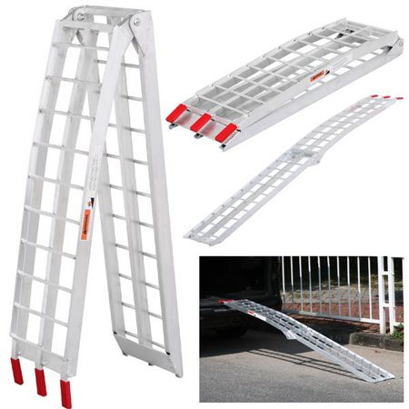 Heavy Duty 7.5' Loading Ramp Aluminum Motorcycle Lawnmower ATV Motorcycle Truck Folding Ramp,1500 (Aluminum Tri Fold Atv Ramps)