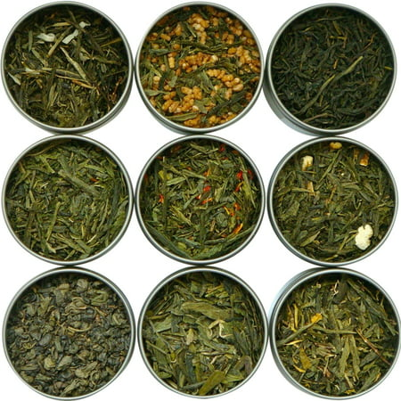 Heavenly Tea Leaves Assorted Green Tea Sampler Set, 9 Count