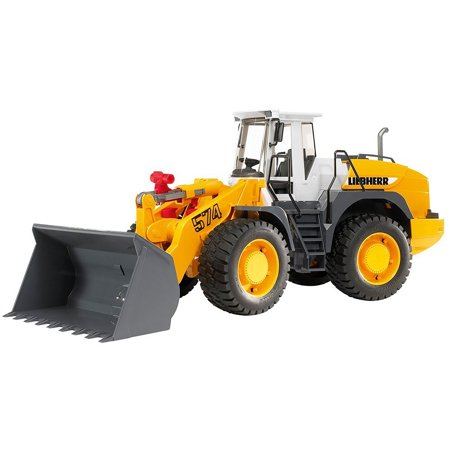 Bruder Toys Mack Granite Liebherr Articulated Road Loader Toy Truck, Yellow