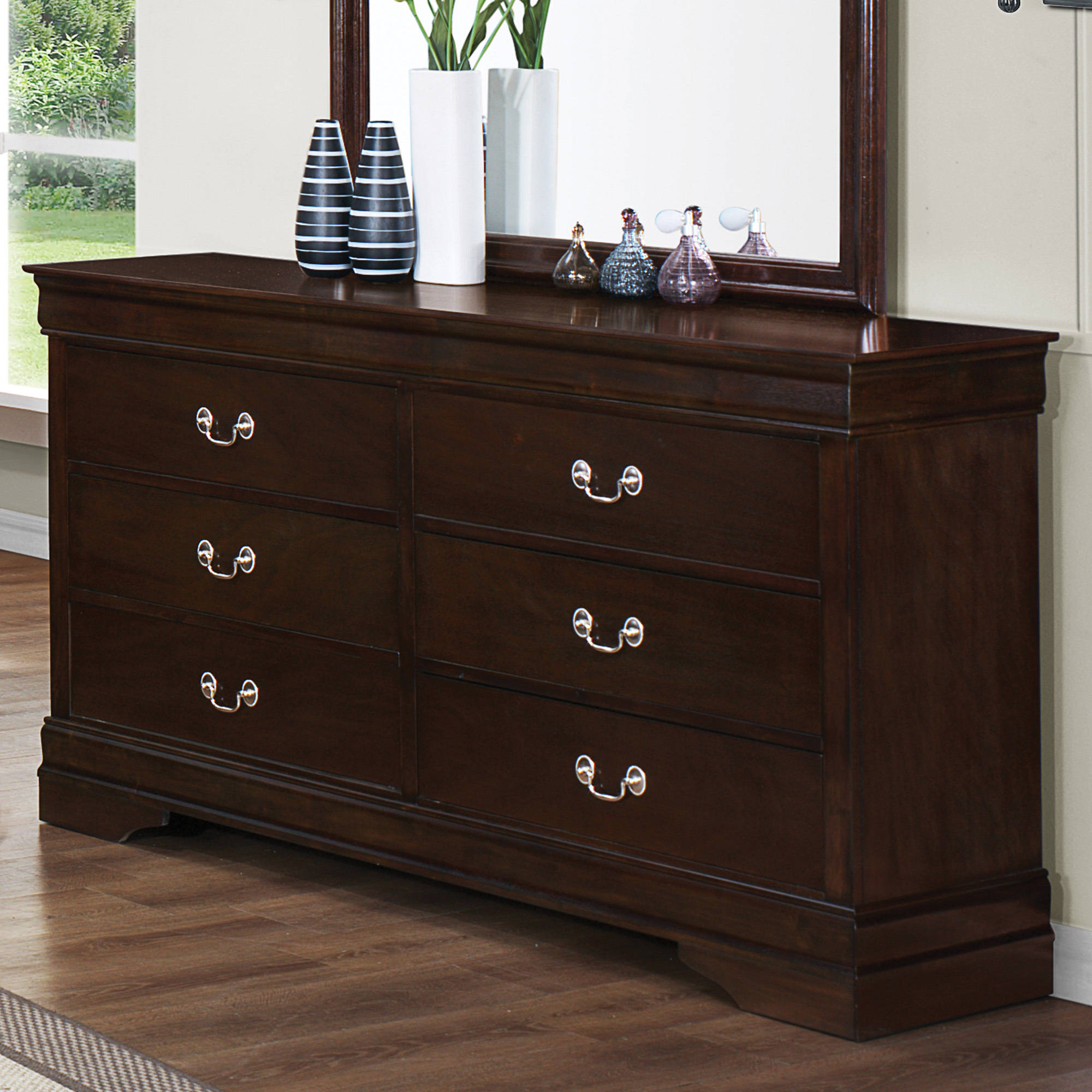 Coaster Company Louis Philippe Collection Dresser, Cappuccino