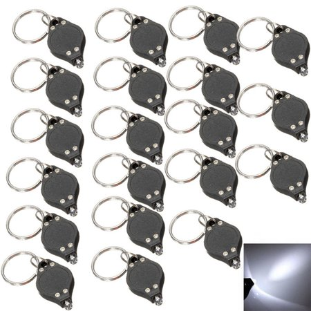 Ncaa Keychain Ring - 20Pcs Bright White Keychain LED Light Lamp Key Ring Flash Flashlight Torch