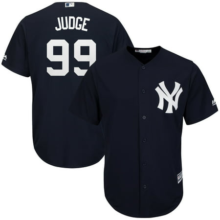 Majestic Mlb Custom Replica Jerseys - Aaron Judge New York Yankees Majestic Fashion Official Cool Base Player Replica Jersey - Navy