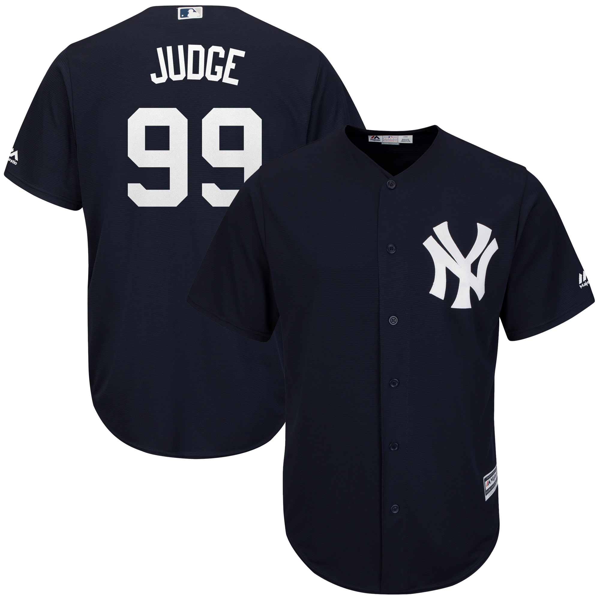 Aaron Judge New York Yankees Majestic Fashion Official Cool Base Player Replica Jersey - Navy