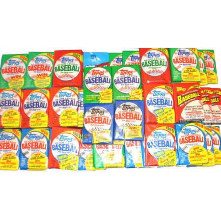 Topps Baseball Cello - 100 Vintage Topps Brands Baseball Cards ~ SEALED IN ORIGINAL WAX & CELLO PACKS