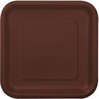 Square Paper Plates, 9 in, Red, 14ct