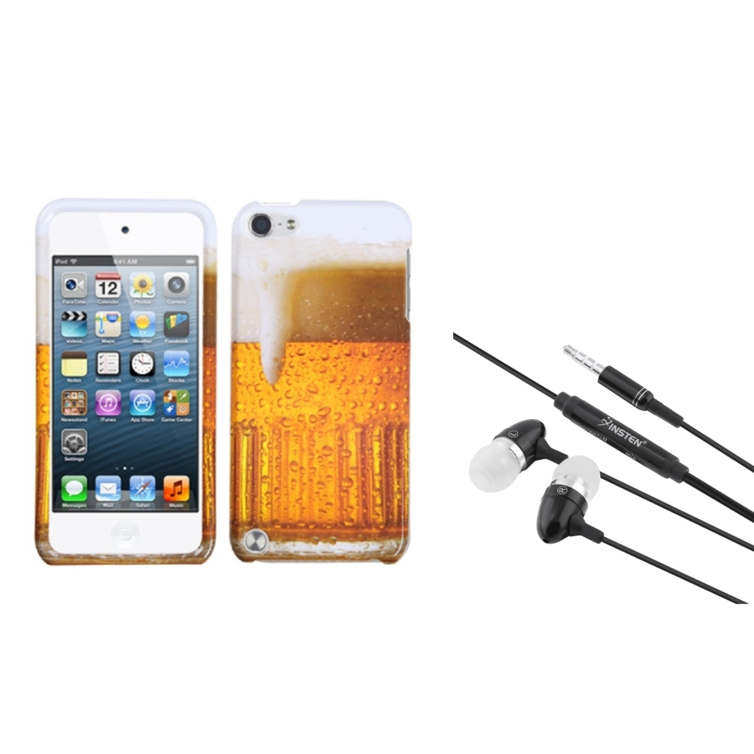 Insten Beer – Food Fight Collection Phone Case For iPod Touch 6 6G / 5 5G + 3.5mm Headset