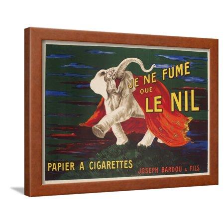 Vintage Advertising Paper - Le Nil Rolling Paper Vintage Advertising Poster Framed Print Wall Art
