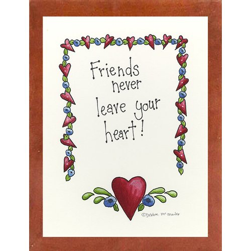 August Grove 'Friends Never Leave Your Heart' Textual Art