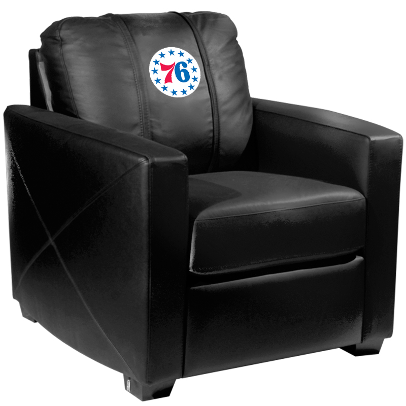 Philadelphia 76ers NBA Silver Chair with Secondary Logo Panel