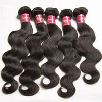 UNice Hair Peruvian Virgin Human Hair Extensions Body Wave 4 Bundles