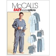 McCall's Pattern Men's Robe, Belt, Tops, Pants and Shorts, Z (XL, XXL)