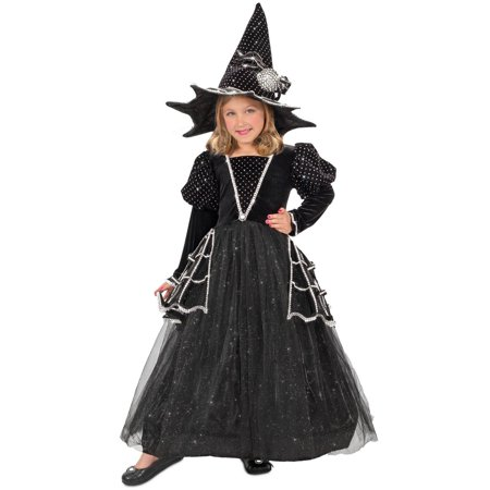 Halloween Girl's Diamond Witch Child Costume - White Witch Spells For Halloween