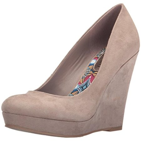 72d4e18a61d Madden Girl - Madden Girl Womens Valia Faux Suede Wedge Pumps - Walmart.com