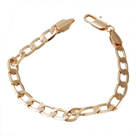 Brass Bracelets Link Curb Chain Gold Tone Plated  With Lobster Claw Clasp