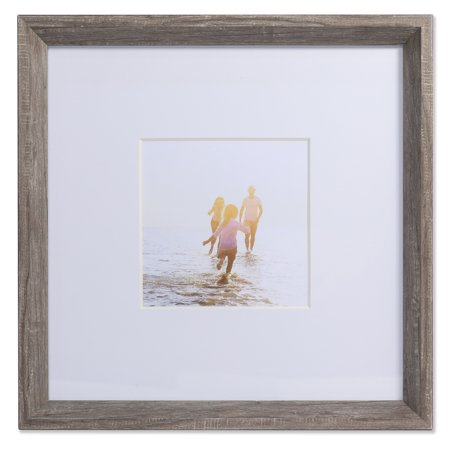 5x5 Wide Border Matted Frame - Gallery Gray 10x10