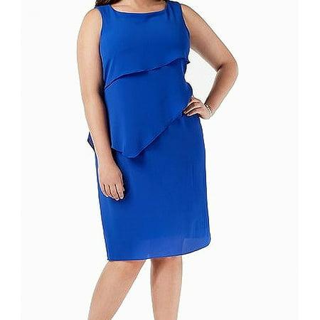 Jessica Howard Cobalt Womens Plus Tiered Shift Dress - Jessica Rabbit Dress Plus Size