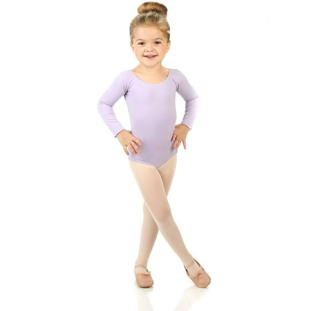 Girls Black Long Sleeve Leotard (Elowel Girls' Team Basics Long Sleeve Leotard Lavender (size)