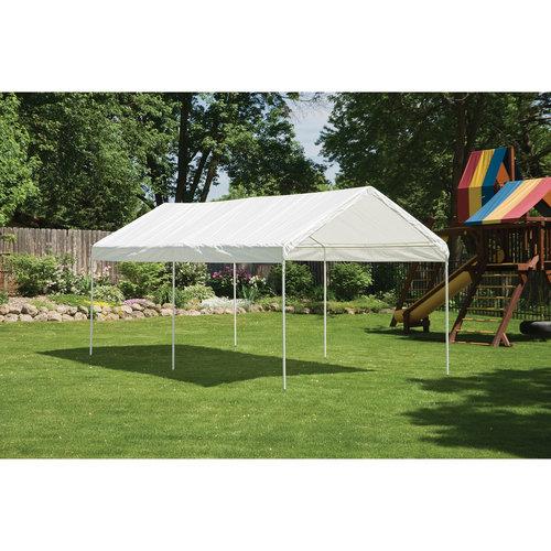 "10' x 20' Canopy 1-3 8"" 3-Rib Frame White Cover by ShelterLogic"