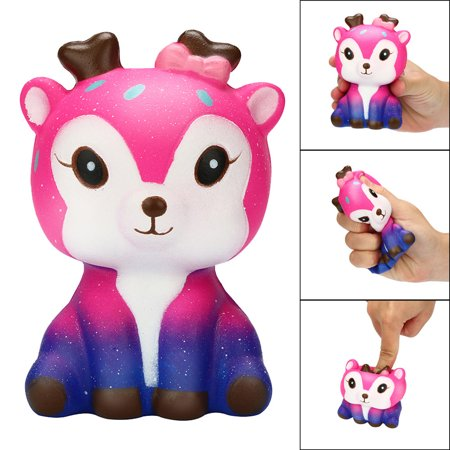 Stress Reliever Toys (Outtop Kawaii Cartoon Galaxy Deer Squishy Slow Rising Cream Scented Stress Reliever)