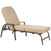 Best Choice Products Outdoor Chaise Lounge Chair Furniture for Patio, Poolside w/ Cushion - Red