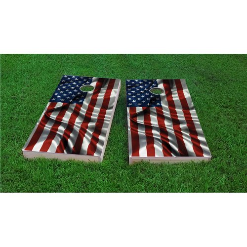 Custom Cornhole Boards American Flag Light Weight Cornhole Game Set by Custom Cornhole Boards