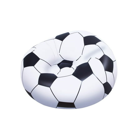 Bestway Beanless Inflatable Soccer Ball Chair (Best Way To Bag Up Leaves)