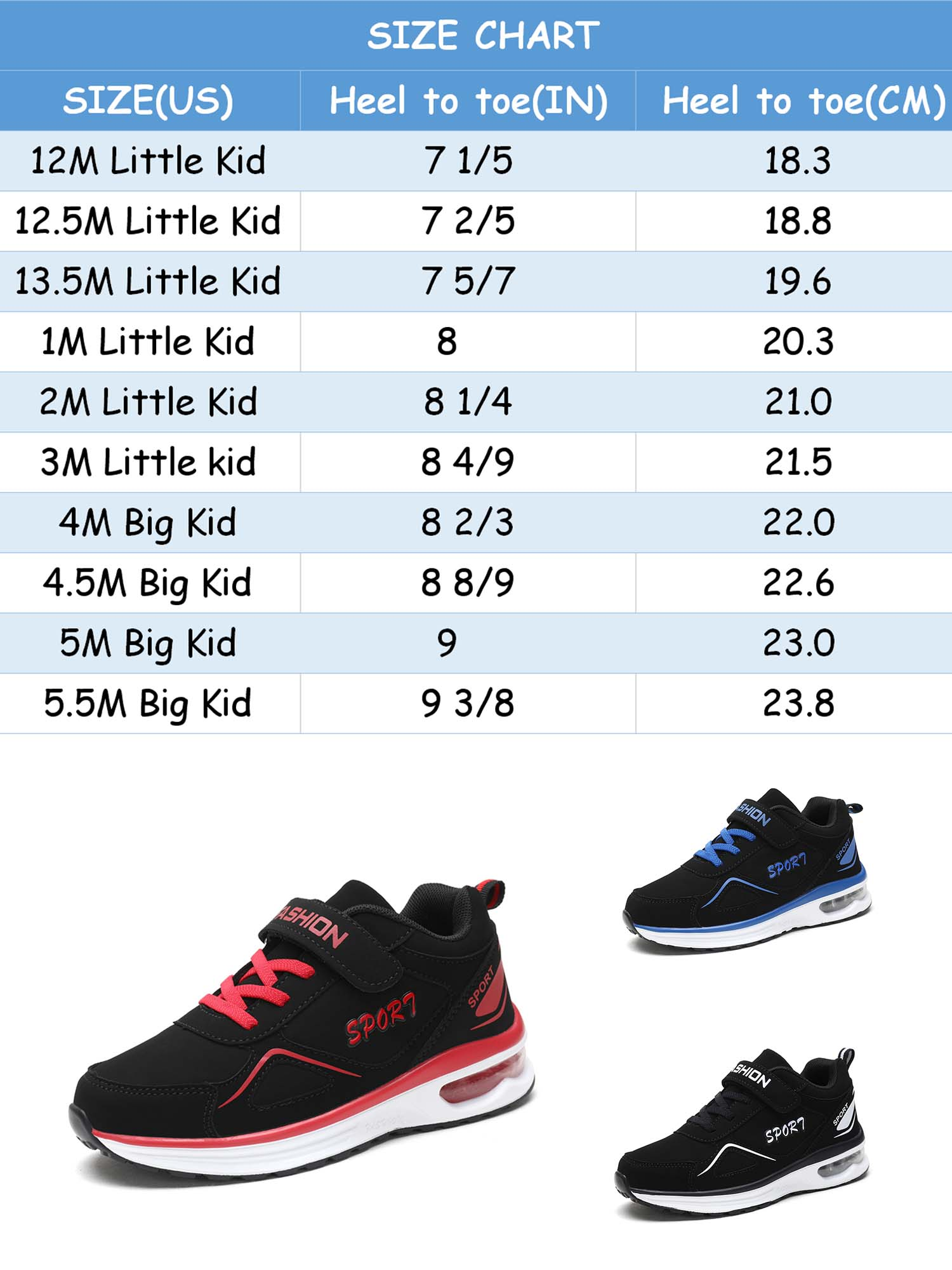 4m us big kid shoe size