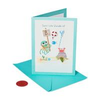 American Greetings Premier Little Bundle New Baby Greeting Card with Rhinestones