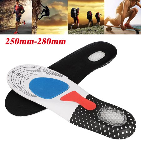 Shoe Inserts Insoles for Walking, Running, Hiking - Full Length Orthotics for Men - Cushion Soles for Heels, Arch Support, Massaging Flat Feet - Fits Work (Best Running Shoes For Flat Feet With Orthotics)