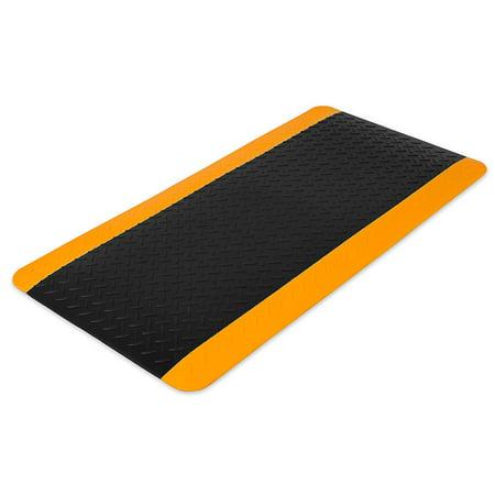 Internet's Best Anti Fatigue Comfort Mat | Cushioned Non-Slip Workshop Garage Office Standing Desk Mat | Ergonomic Floor Mat for Market Booths | Waterproof | 38.75 x 19.75 inches |